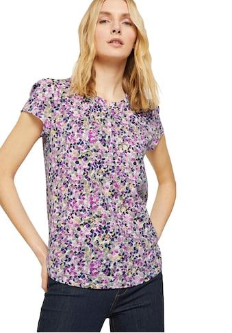 TOM TAILOR T-Shirt, mit süßen Raffungen und Knopfleiste kaufen