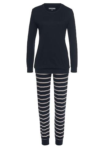 Schiesser Pyjama, mit geringelter Hose kaufen