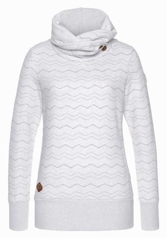 Ragwear Sweater »ANGEL CHEVRON«, mit hochschießendem Schalkragen mit Zierknopfbesatz kaufen