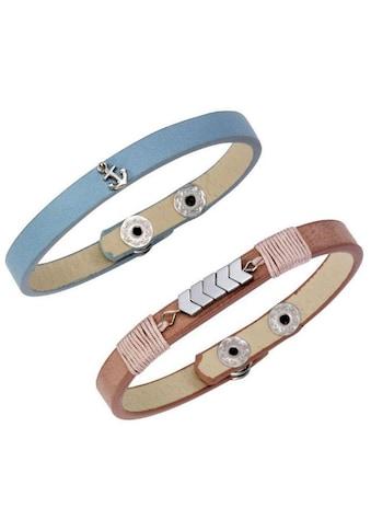 J.Jayz Armband Set »maritim/modern, einzeln tragbar« (Set, 2 tlg.) kaufen
