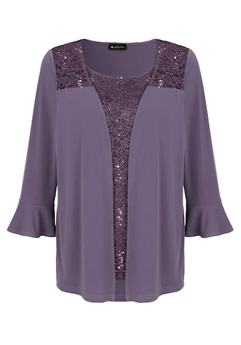 m. collection 2-in-1-Shirt, durch Jacke und integriertem Top kaufen