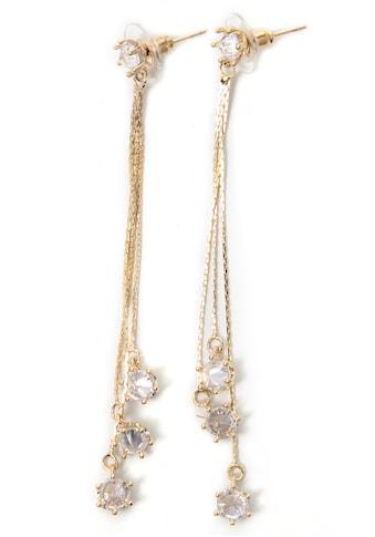 J.Jayz Paar Ohrstecker »mit 3 langen Metall-Schnüren, feminin, edel«, mit Glassteinen kaufen