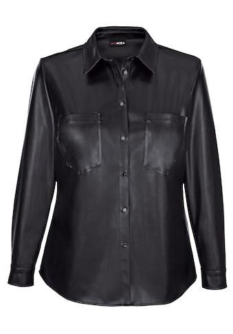 MIAMODA Blusenjacke, aus weichem Lederimitat kaufen