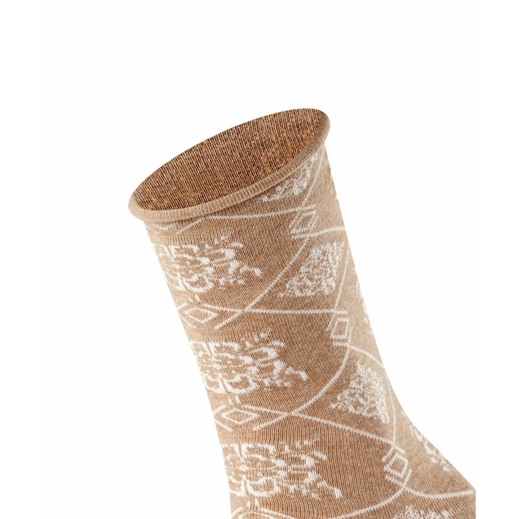 Esprit Socken »Flower Pearl«, (1 Paar), mit Blumenmuster