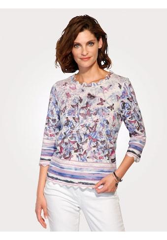 Mona Pullover mit Schmetterlingsdruck kaufen