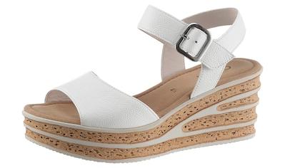 Gabor Sandalette, mit besonderer Absatzgestaltung kaufen