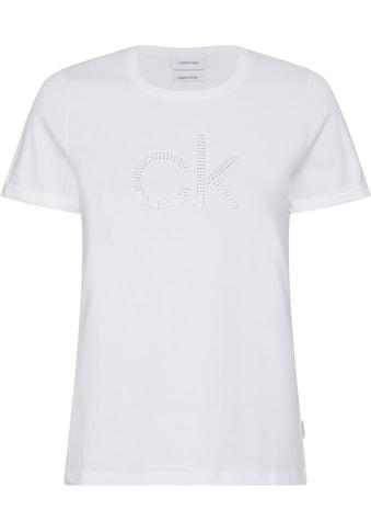 Calvin Klein Rundhalsshirt »SLIM FIT CK DIAMANTE TEE«, mit CK Logo aus Glitzersteinen kaufen