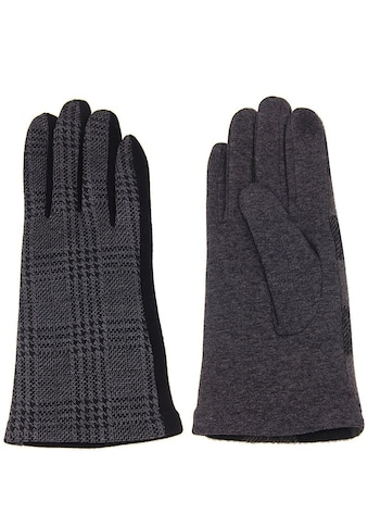 leslii Handschuhe mit elegantem Karo - Muster kaufen