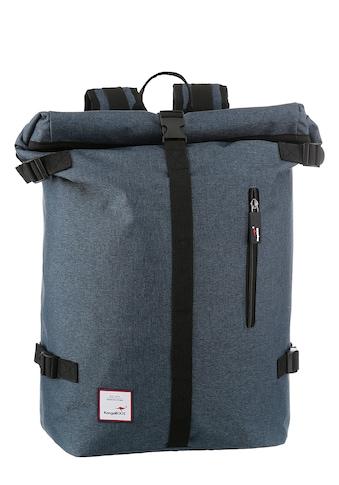KangaROOS Cityrucksack, mit viel Stauraum und modischem Rolltop kaufen