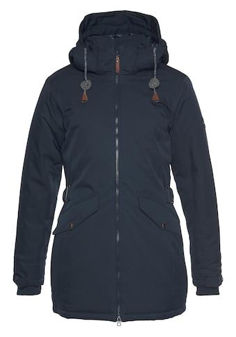 Polarino Winterjacke, mit abnehmbarer Kapuze und Rippkragen kaufen