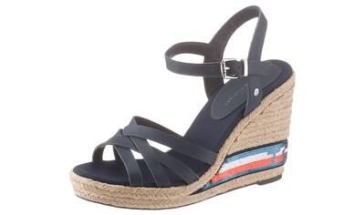 TOMMY HILFIGER High - Heel - Sandalette »TOMMY SEQUINS HIGH WEDGE SANDAL« kaufen