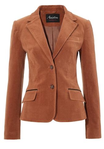 Aniston CASUAL Jackenblazer mit Lederimitat - Einfassungen und Ärmelpatches kaufen