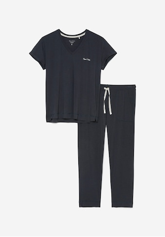 Marc O'Polo Pyjama, mit Logoschriftzug kaufen