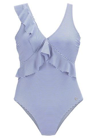 LASCANA Badeanzug, in Off-shoulder-Form und mit Volants kaufen