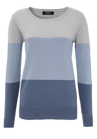 Aniston CASUAL Rundhalspullover, im Colorblocking kaufen
