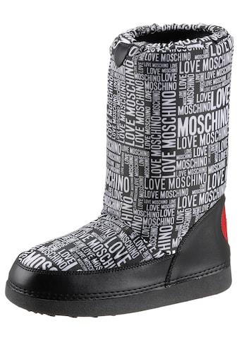 LOVE MOSCHINO Winterboots, mit Allover-Logodruck kaufen