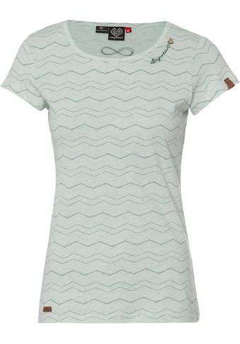 Ragwear T-Shirt »MINT CHEVRON«, mit effektvollem Zig Zag.-Allover-Druck kaufen