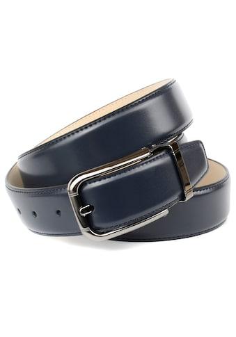 Anthoni Crown Ledergürtel, mit schwarzer Dornschließe kaufen