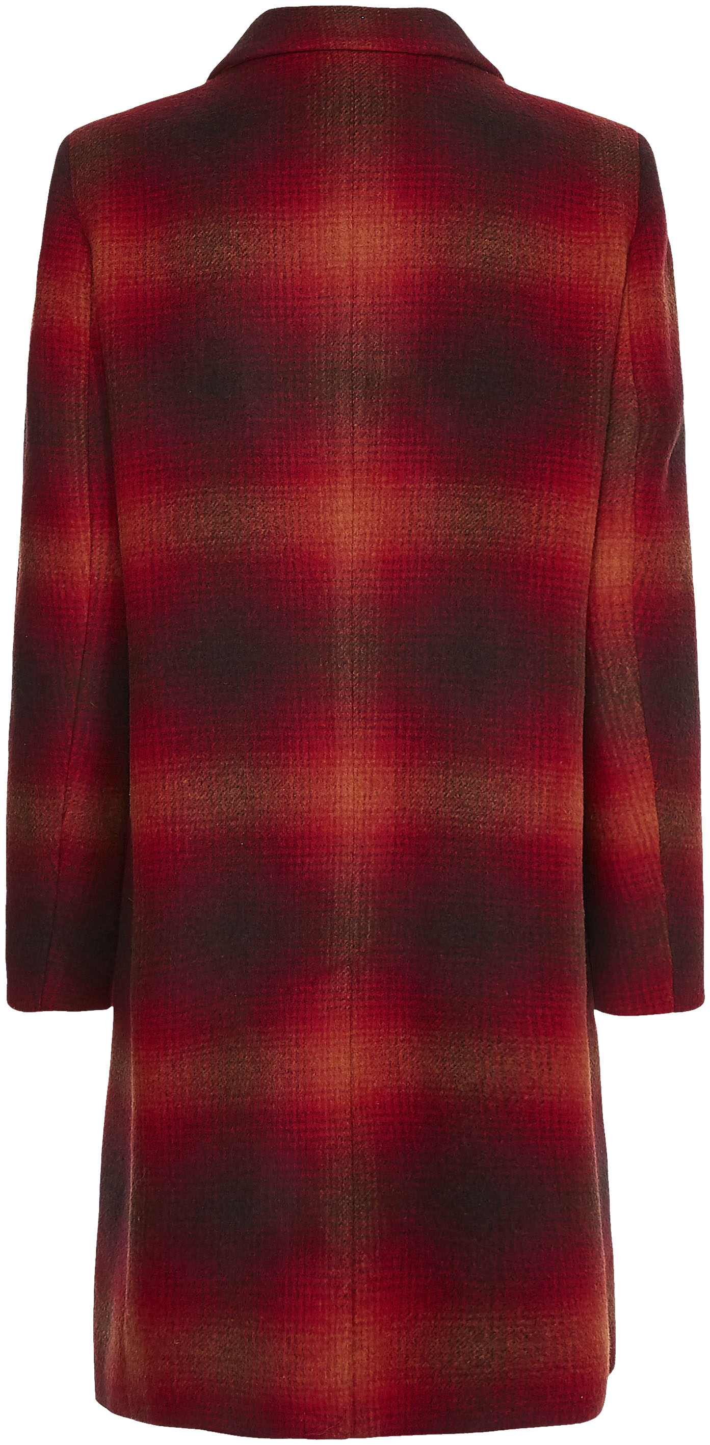 tommy hilfiger -  Wollmantel WOOL BLEND CHECK CLASSIC COAT, mit Karomuster