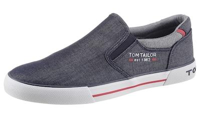TOM TAILOR Slipper, mit gepolstertem Schaftrand kaufen