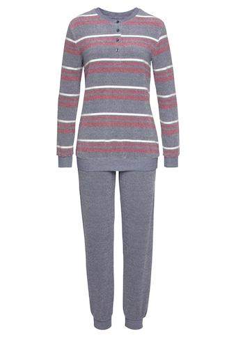 Schiesser Pyjama, in Streifenoptik mit kurzer Knopfleiste kaufen