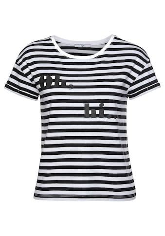 AJC T-Shirt, in Boxy-Form mit angesagten Streifen & Druck kaufen