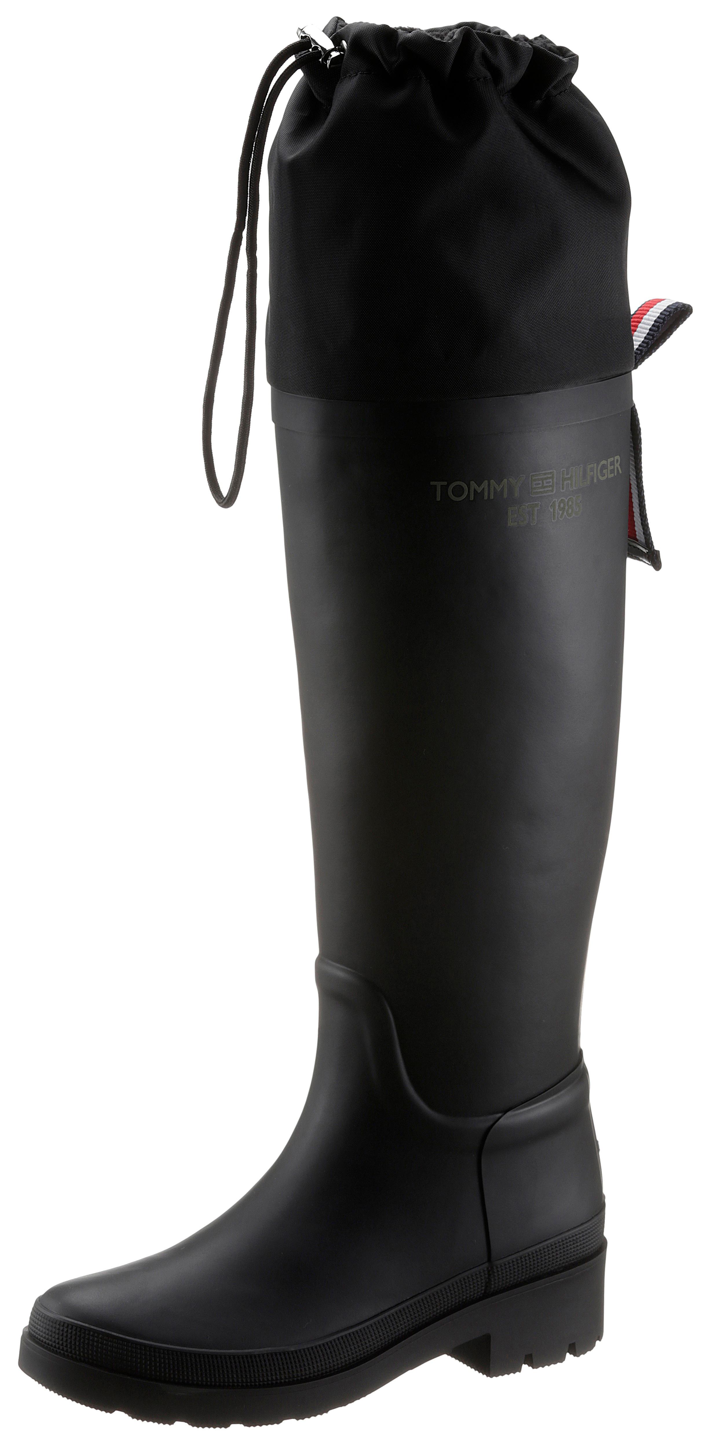 tommy hilfiger -  Gummistiefel TH OVERKNEE RAINBOOT, zum Schlupfen