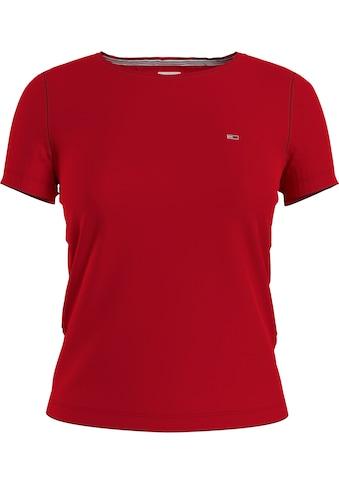 Tommy Jeans Rundhalsshirt »TJW SLIM JERSEY C NECK«, mit Tommy Jeans Logo-Flag auf der Brust kaufen