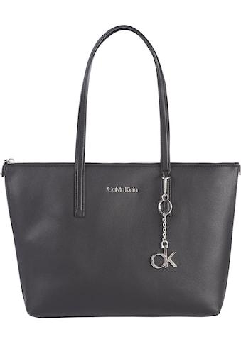 Calvin Klein Shopper, mit silberfarbenen Logo Anhänger kaufen