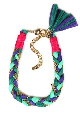 J.Jayz Armband »geflochtenes Design, vergoldet, mit Bast und Quasten« kaufen