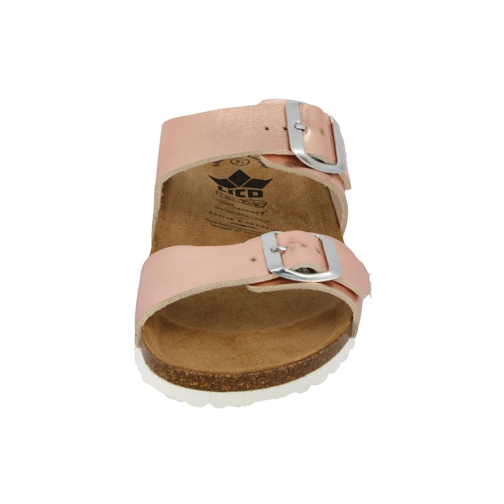 Lico Pantolette »Pantolette Bioline Mera - rosegold«