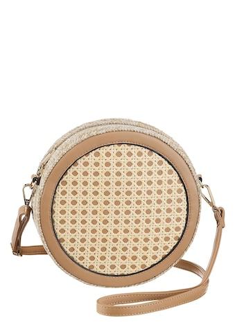 Bruno Banani Umhängetasche, runde Form mit goldfarbenen Details kaufen