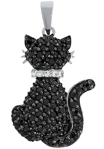 Firetti Kettenanhänger »Katze«, mit Zirkonia kaufen