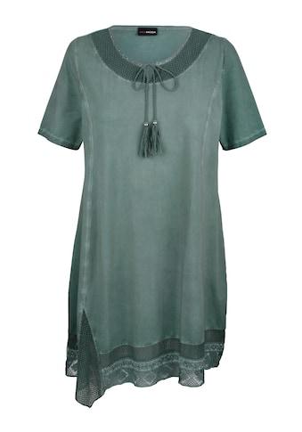 MIAMODA A-Linien-Kleid, mit Bändern am Ausschnitt kaufen