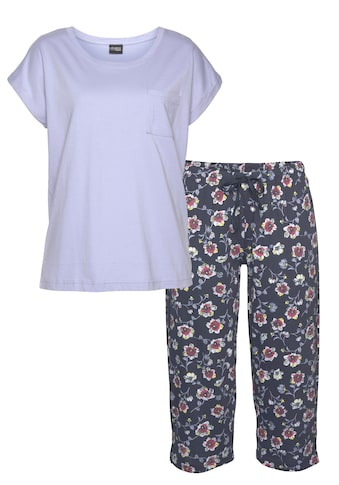 Vivance Dreams Capri-Pyjama, mit gemusterter Schlafhose kaufen