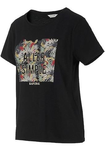 Kaporal T-Shirt »PAULA«, mit Metallicprint kaufen