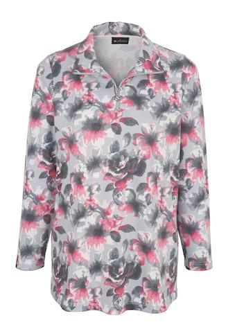 m. collection Sweatshirt, rundum mit Blumendruckmuster kaufen