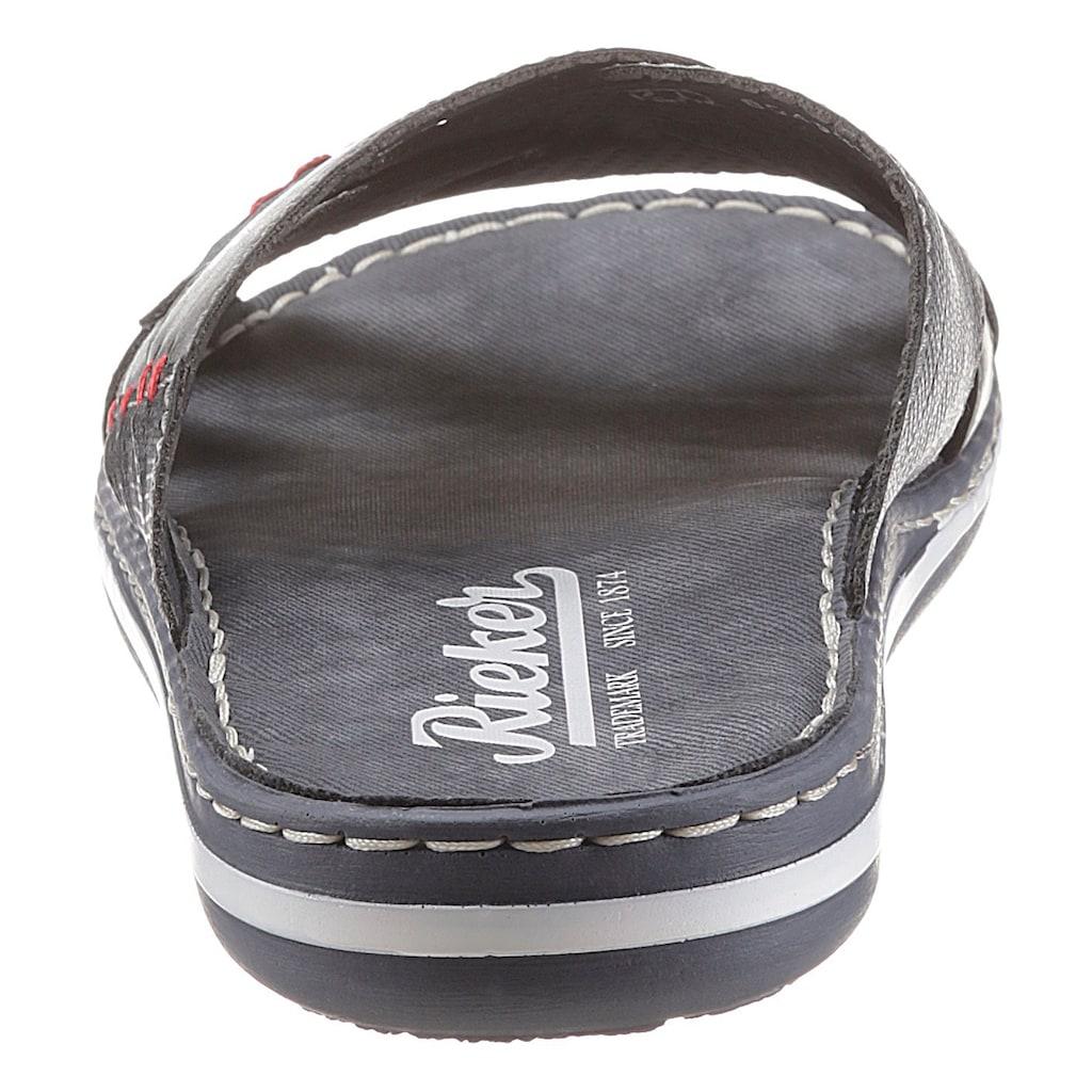 Rieker Pantolette, mit Logoschriftzug