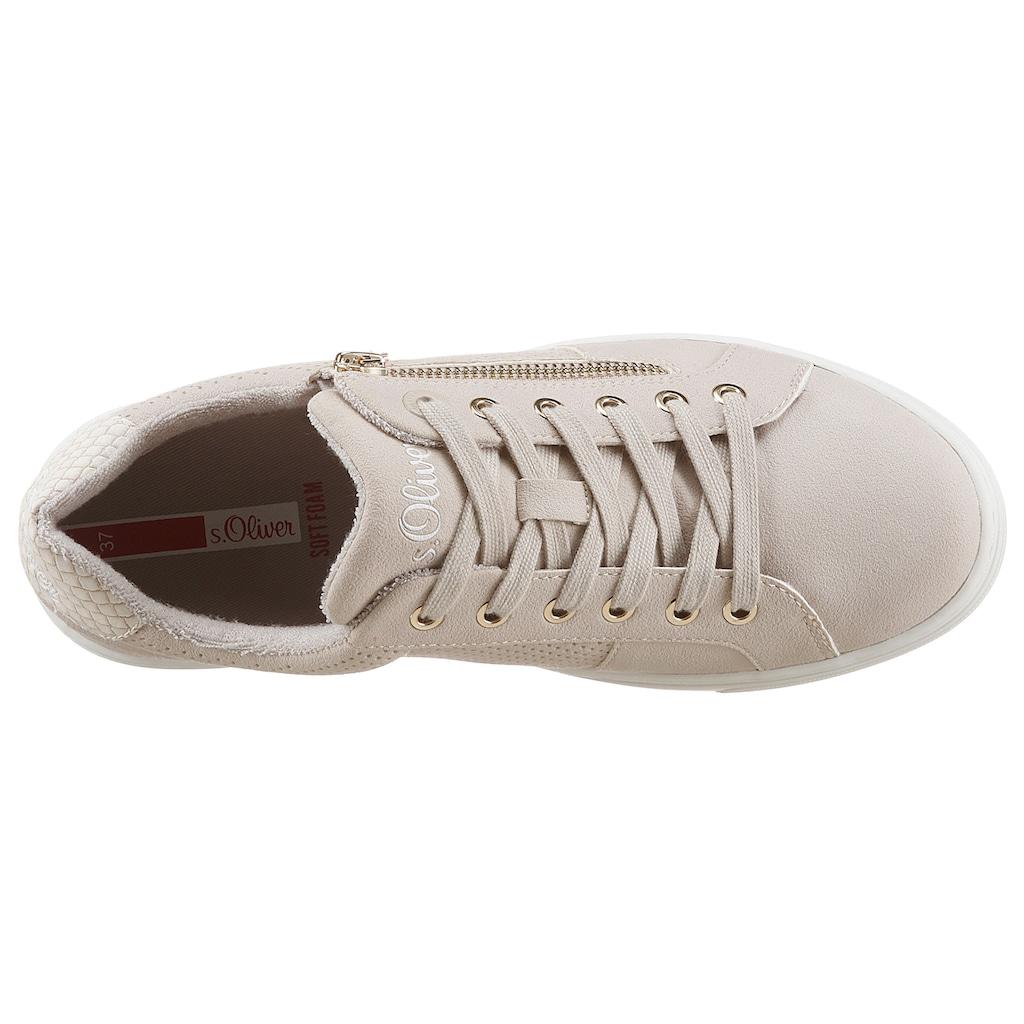 s.Oliver Sneaker, mit leichter Perforierung