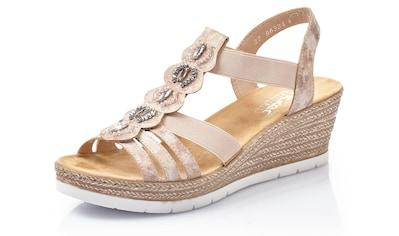 Rieker Sandalette, mit Bastbesatz kaufen