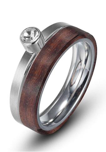 Firetti Fingerring »zus. 6,0 mm, glänzend, matt, bicolor«, mit Zirkonia kaufen