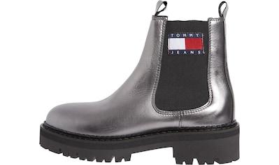 Tommy Jeans Chelseaboots »METALLIC CHELSEA BOOT«, mit Logo-Aufnäher kaufen