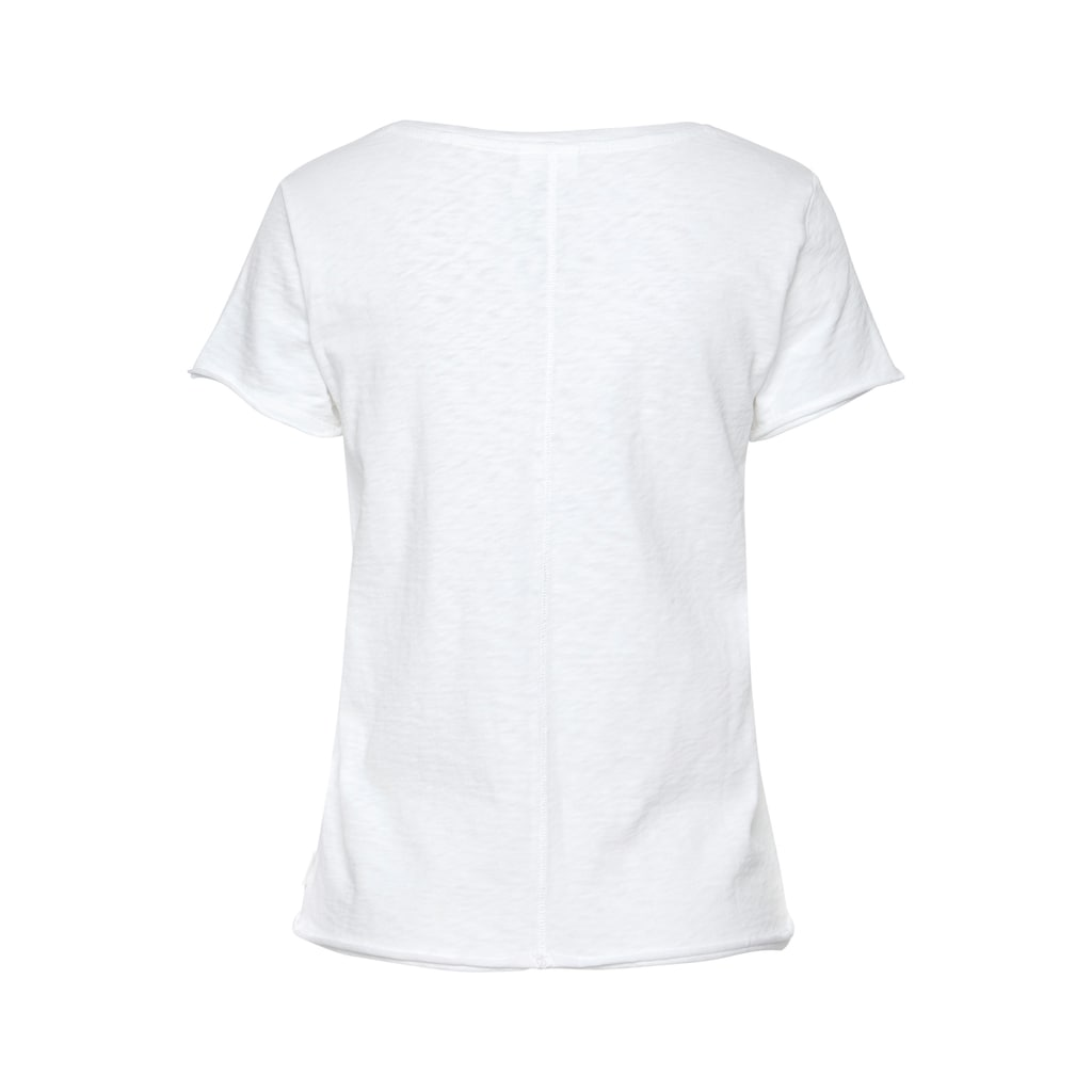 Marc O'Polo DENIM T-Shirt, mit abgerundetem V-Neck