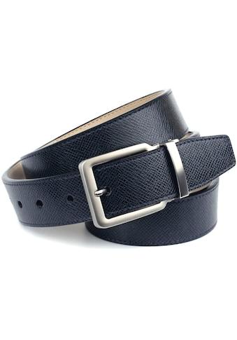 Anthoni Crown Ledergürtel, mit Designmuster und satinierter Schließe kaufen