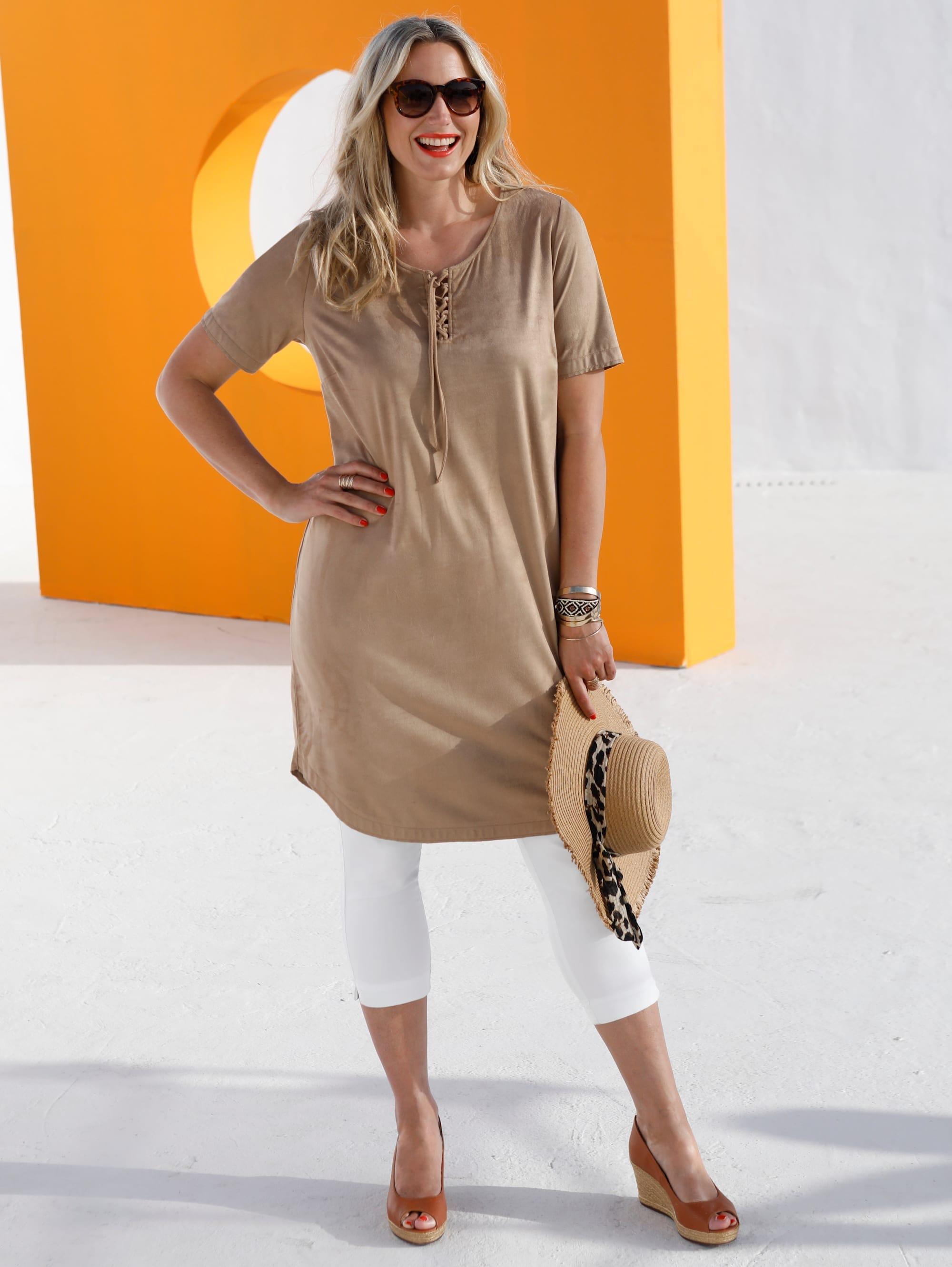 miamoda -  Kleid mit modischer Schnürung im Ausschnitt