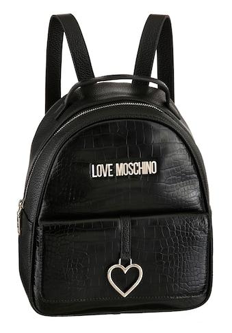 LOVE MOSCHINO Cityrucksack, in modischer Kroko Optik kaufen