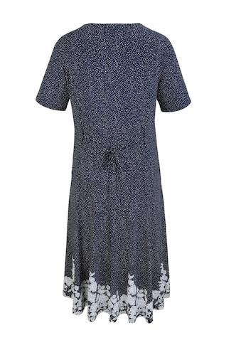 m. collection Kleid mit gummiertem Blütendruckdessin am Saumabschluß kaufen