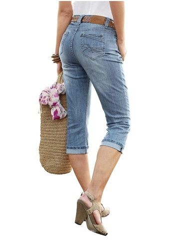 Aniston CASUAL Caprijeans, in Used-Waschung kaufen