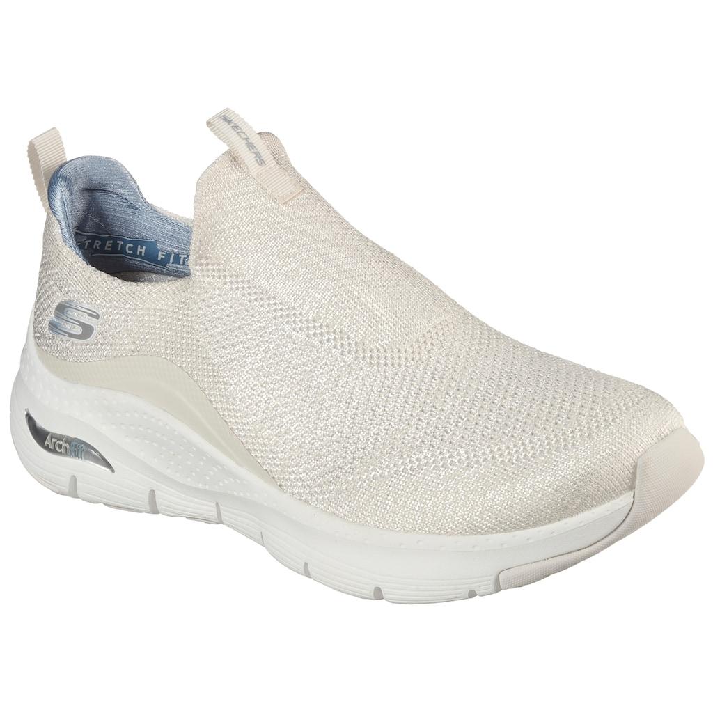Skechers Slip-On Sneaker »ARCH FIT KEEP IT UP«, mit gepolsterter Ferse