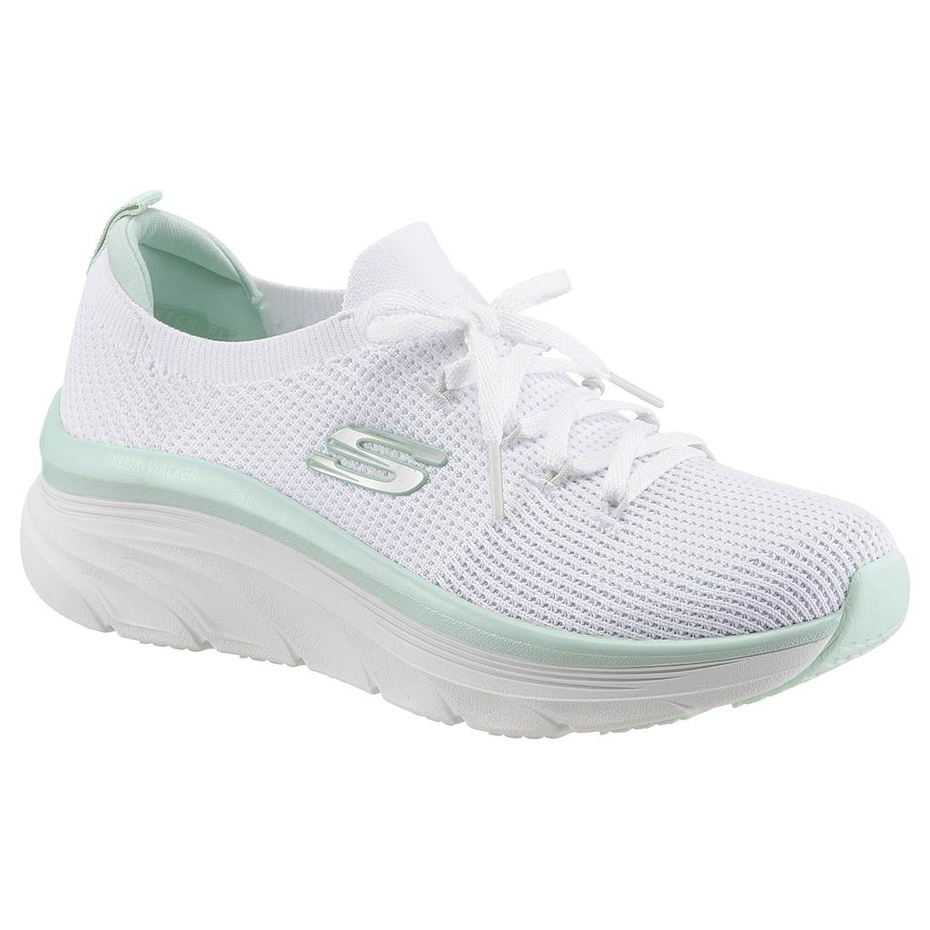 Skechers Slip-On Sneaker »D'LUX WALKER REFRESHING MOOD«, mit aufgesetzter Schnürung